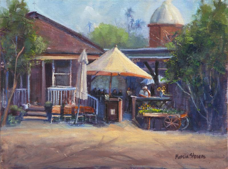 Ramos House Cafe painting by Marcia Stevens