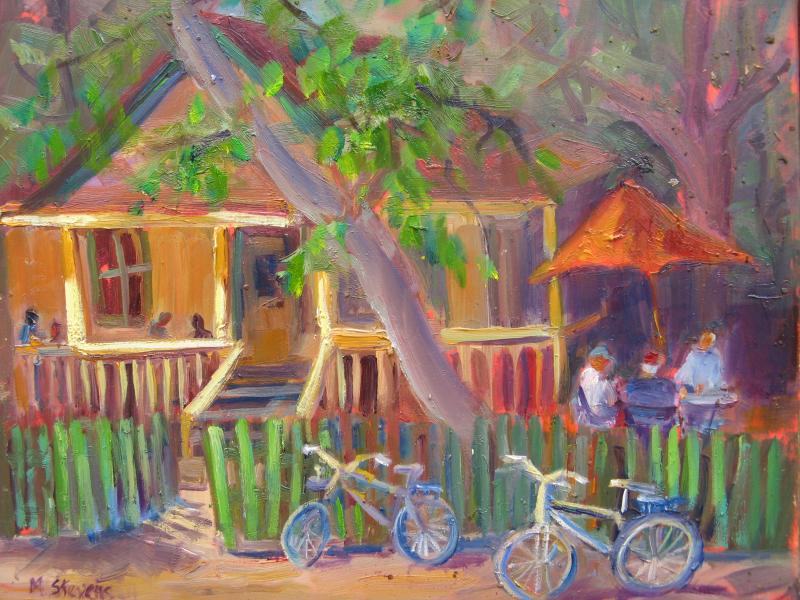 """Hidden House"" painting by Marcia Stevens"